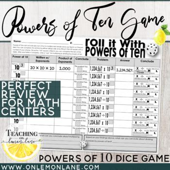 roll  powers  ten dice game multiplying dividing
