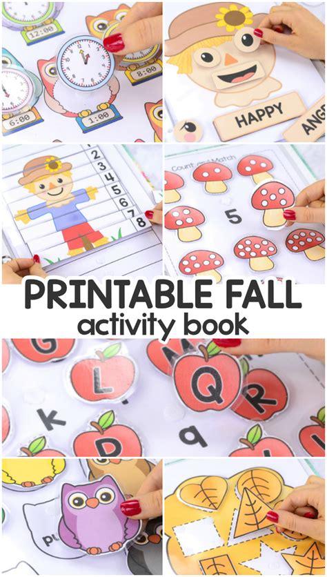 printable fall quiet book activity book  pre