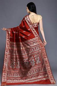 Burnt Red Swarnachari Saree From Bishnupur
