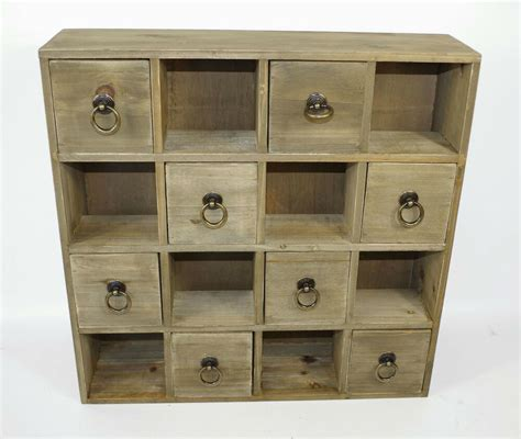 Drawers And Storage by Distressed Shabby Chic 8 Drawer Wooden Trinket Drawers
