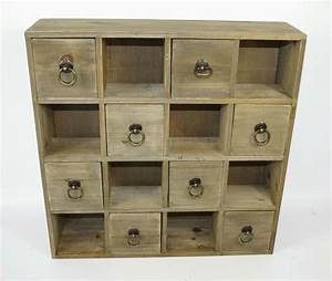 Distressed Shabby Chic 8 Drawer Wooden Trinket Drawers