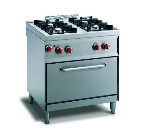 Macchine Da Cucina A Gas cucina gas 4 fuochi fiamma pilota forno gas gn 1 1
