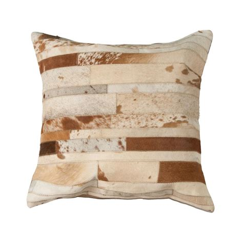 Torino Cowhide Pillow by Torino Classic Madrid Brown And White Cowhide
