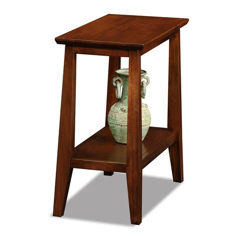 narrow end tables leick 10405 delton narrow chairside end table atg stores