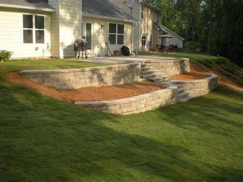 terraced retaining wall 1000 images about retaining walls on