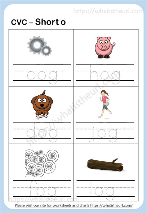 tracing cvc words short   home teacher