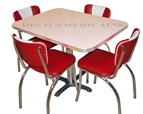 set table et chaises retro diner set 4 retro riner chairs 1 table