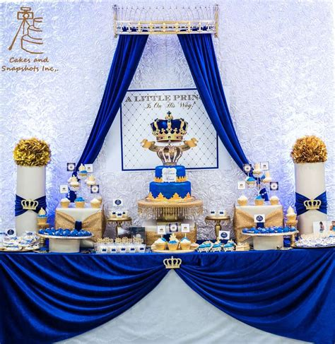 royal prince baby shower party ideas photo    bre