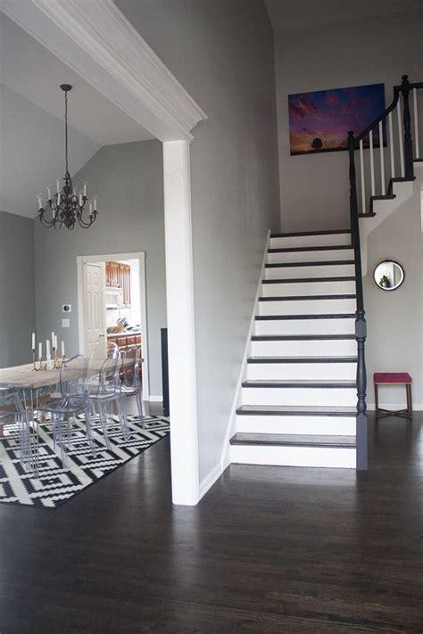 home tour paint colors home decor benjamin grey owl dark floors