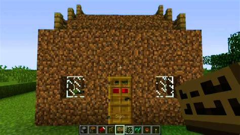 build  dirt hut  minecraft youtube