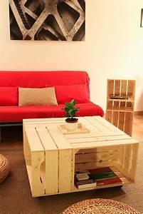 Table Basse Caisse Bois : on a test le kit de table basse avec caisses en bois de simply a box table de salon diy ~ Nature-et-papiers.com Idées de Décoration