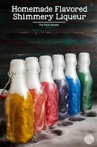 Liqueur Homemade Shimmery Flavored Rainbow Colors Viniq