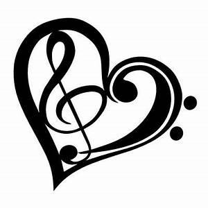 Notenschlüssel Mit Herz : autoaufkleber musik musiker aus leidenschaft herz mit ~ Watch28wear.com Haus und Dekorationen