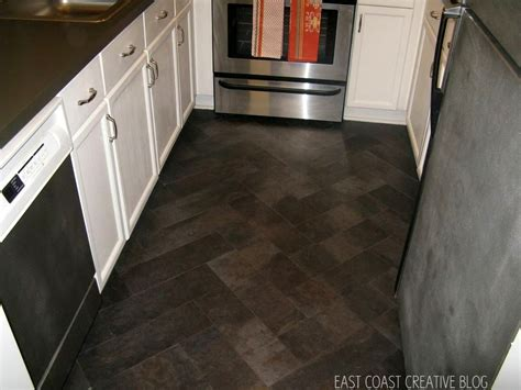 diy herringbone tile floor  peel stick vinyl