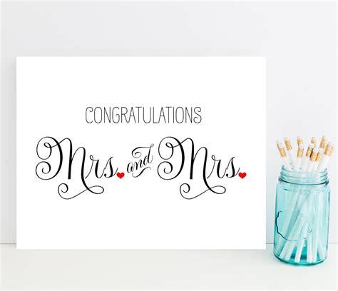 congratulations card wedding card  lesbian