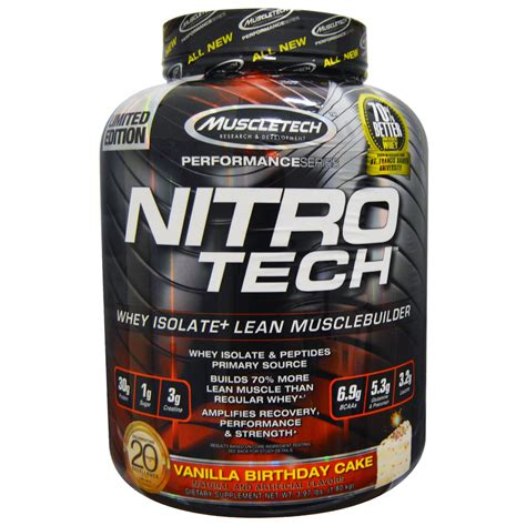 Muscletech, Nitro Tech, Whey Isolate+ Lean Musclebuilding