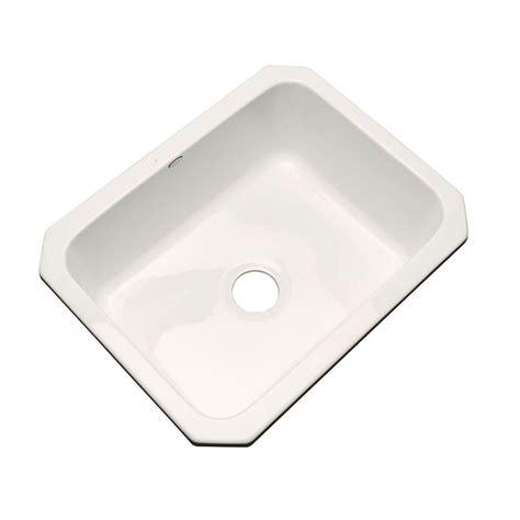 acrylic kitchen sink glacier bay rochester drop in acrylic 25 in 4 single 1153