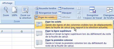 Fixer des lignes ou colonnes dans Excel lors du défilement