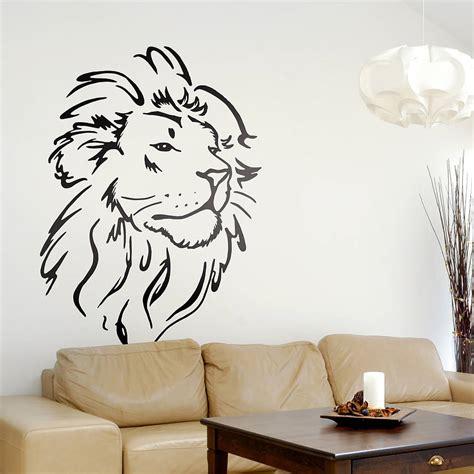 lion head wall sticker  oakdene designs