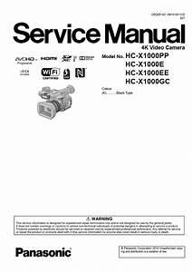 Panasonic Hc X1000 4k Camcorder Service Manual And Rep