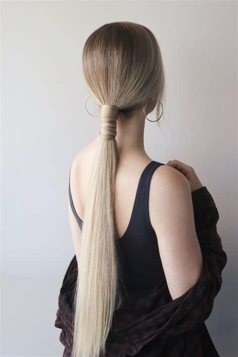 easy ponytail hair tutorial alex gaboury