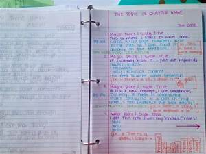 """""""Note Taking: The page on the left is how I take notes in ..."""