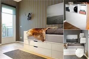 Bett 180x200 Mit Stauraum : hochbett selber bauen mit ikea m beln betten mit stauraum ~ Frokenaadalensverden.com Haus und Dekorationen