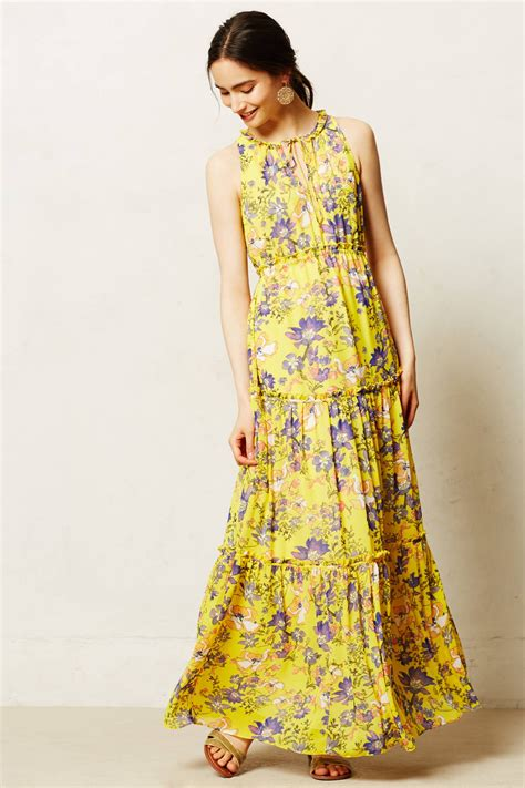 maeve maravilla maxi dress  yellow lyst