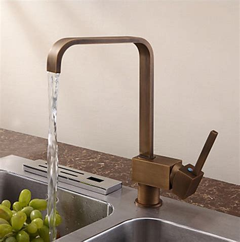 Antique Inspired Solid Brass Kitchen Tap  Antique Brass