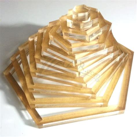 template nested hexagon  plexiglass quilting stencil