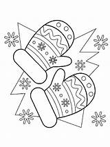 Mittens Coloring Printable Mycoloring sketch template