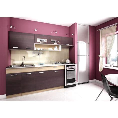 kit cuisine topaze noyer 2m40 6 meubles kit cuisine mod achat