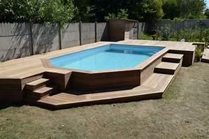 Deco Piscine Hors Sol : terrasse en bois autour d 39 une piscine deco pinterest terrasses en bois piscines et terrasses ~ Melissatoandfro.com Idées de Décoration