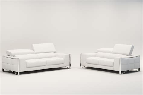 deco in 2 ensemble canape cuir 3 2 places blanc