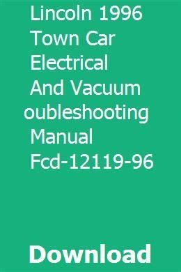 lincoln  town car electrical  vacuum
