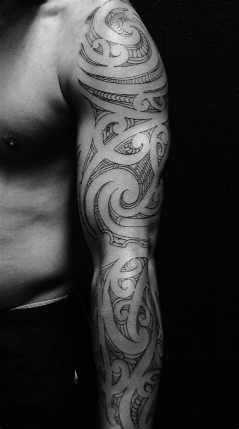 Mens Tribal Arm #Tattoo With Light Ink   Arm Tattoos For Men   Tribal sleeve tattoos, Tribal