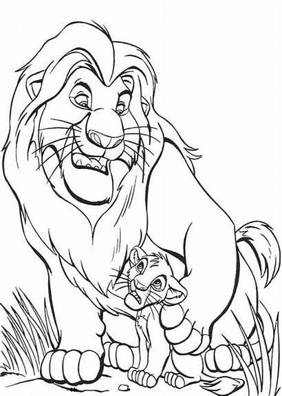Coloring Lion King Pages Mufasa Simba Printable
