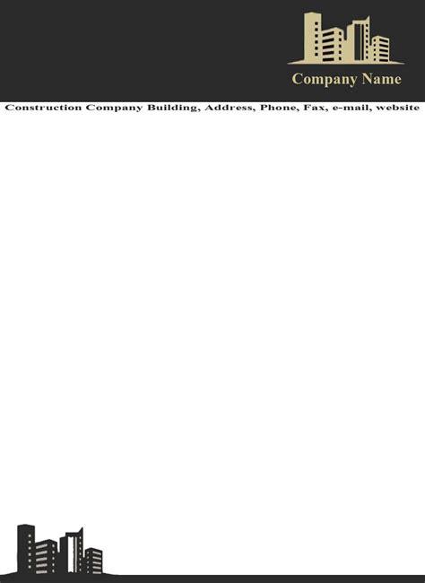 Company Letterhead Template Free Company Letterhead Templates Construction Ninareads