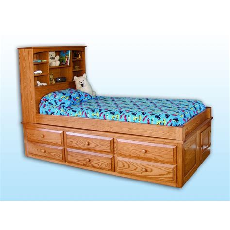 captains storage bed amish crafted furniture
