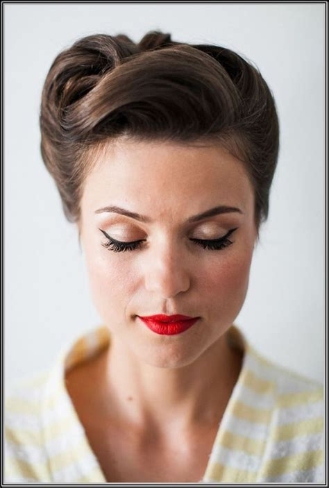 50s Pin Up Hairstyles by Updo For Hair From The Back Hairstyles Fashion