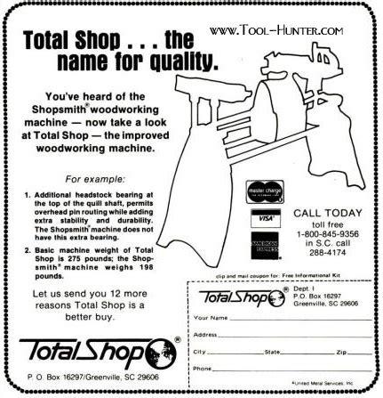total shop shopsmith mark  clone ad tool huntercom