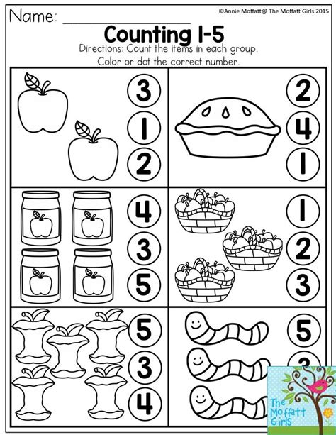 best 25 number 5 ideas on number worksheets 534 | c19e388349e5fbcc20b976f8bc7daf57 preschool apples kindergarten math