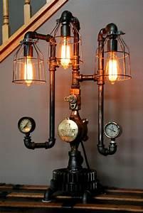 Machine Age Steampunk Steam Gauge Lamp #61 - SOLD