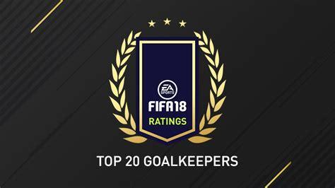 Fifa 18 Goalkeeper Ratings  Top 20 Fut 18 Goalkeepers