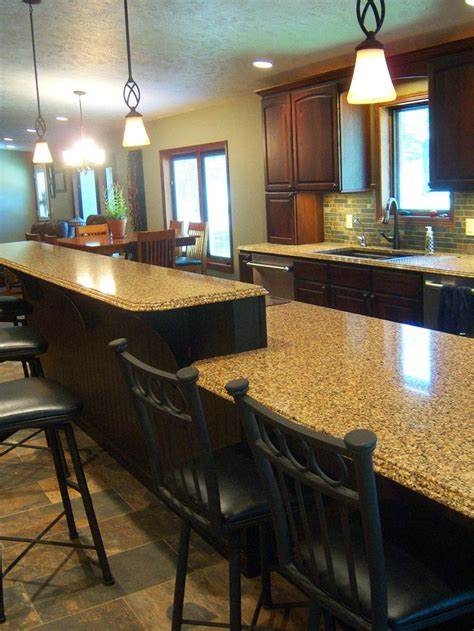 kitchen islands with seating for 2 island with 2 level seating designs by 9469