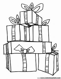 Christmas Tree clipart present coloring page - Pencil and ...