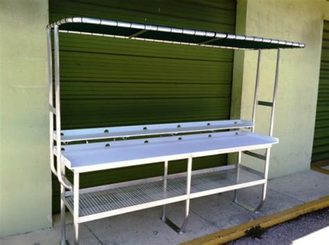 aluminum fish cleaning table custom tuna table for the shoreline foundation of west