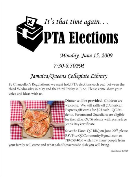 Pta Elections 61509 730pm Flyers