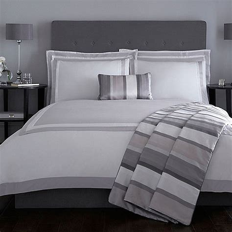 J By Jasper Conran Grey 'langham' Duvet Cover Debenhams