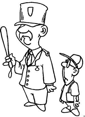 Junge Und Polizist Ausmalbild & Malvorlage (sonstiges